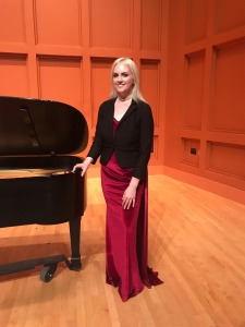 Nancy Jones, April 2019. Beckwith Hall piano concert.